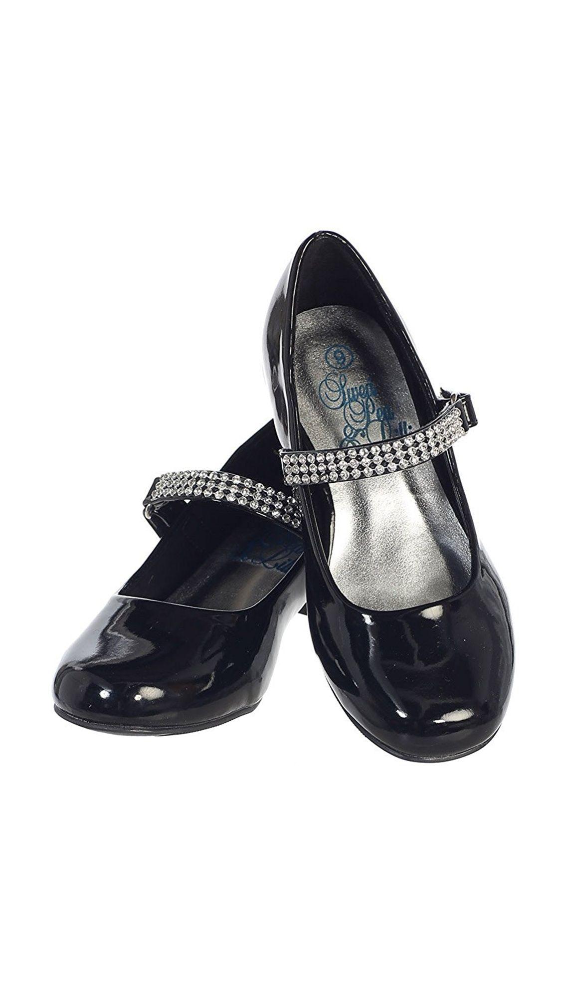 Democracy Apparel Dempsey Marie Girls 1 Low Heel Dress Shoe With Rhinestone Strap In Ivory White Or Black Walmart Com Low Heel Dress Shoes Dress And Heels Low Heels [ 1999 x 1125 Pixel ]