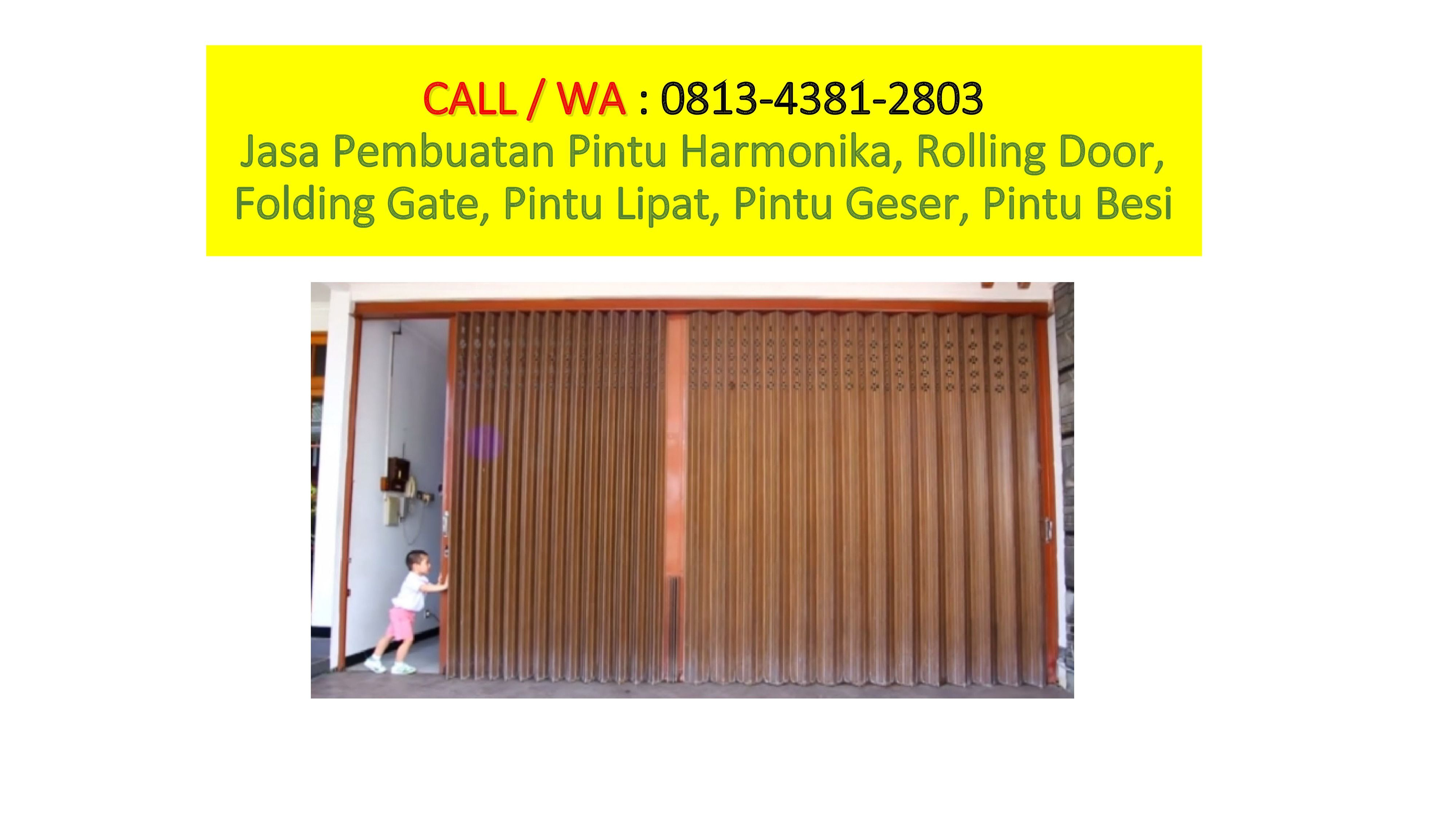 TELP / WA: 0813 4381 2803 Varia harmonica door in Surabaya, P …