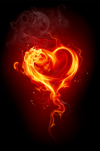 Beautiful Broken Heart Fire Heart Light Background Images Hearts And Roses