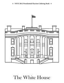 Coloring Pages Washington Dc | White House Coloring Page, Washington Dc
