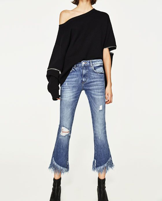 47b62e288 Image 2 of MID-RISE MINI FLARE JEANS from Zara | clothes | Flare ...