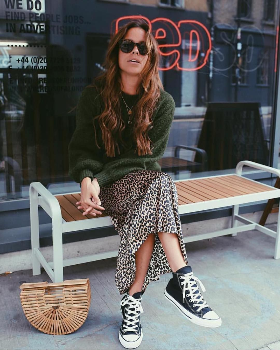 "Photo of BCN Street Style on Instagram: ""Printed ➕converse ✔️✔️✔️📷 @collyertwins Yay?"""