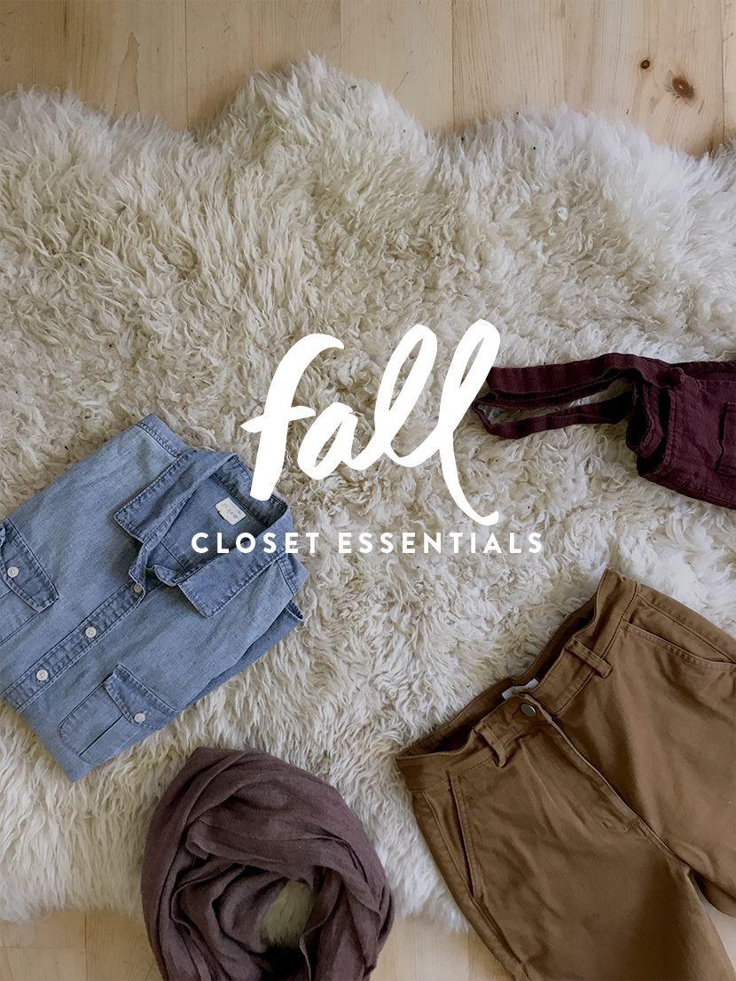 A Seasonal Closet Fall Wardrobe Essentials (The Fresh