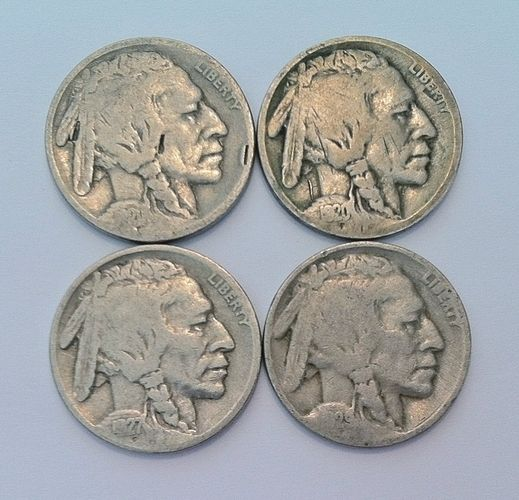 (Lot Of 4) Valuable Antique Coins Indian Head Nickel