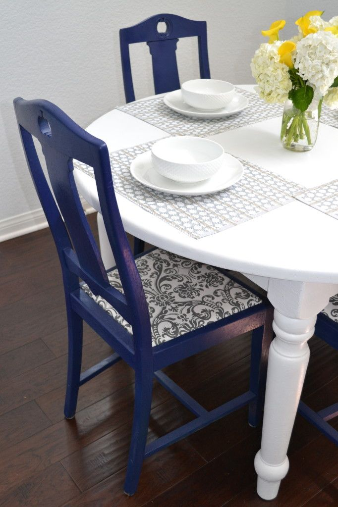 DIY Reupholstered Dining Chairs