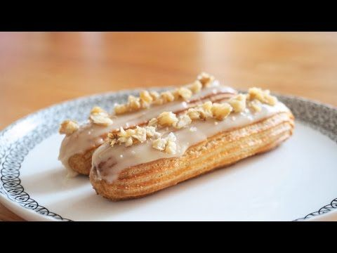 Cream Cheese Maple Eclair 크림치즈 메이플 에클레어   SweetHailey - YouTube