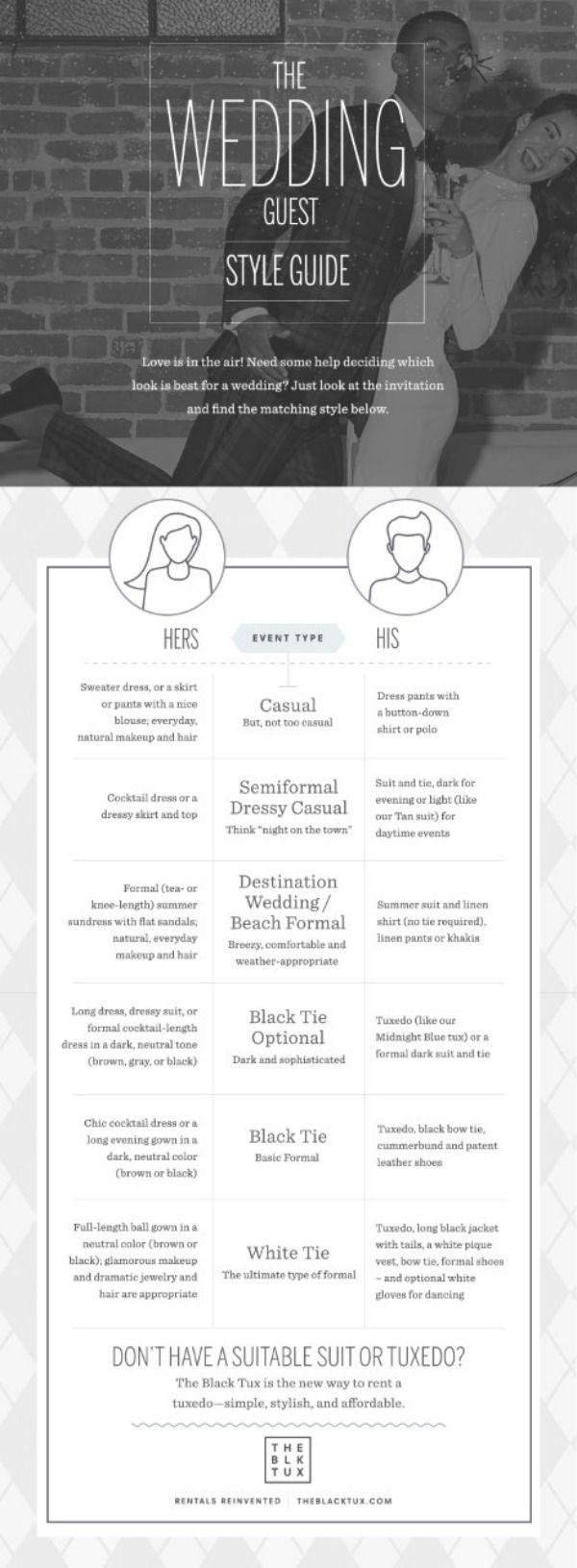 Wedding Dress Code Etiquette with The Black Tux Dreamery