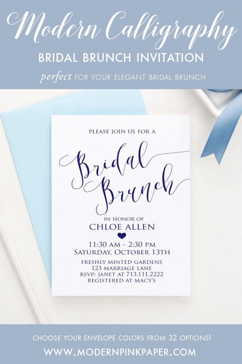 Bridal Brunch Bridal Shower Invitations, Elegant Bridal Shower ...