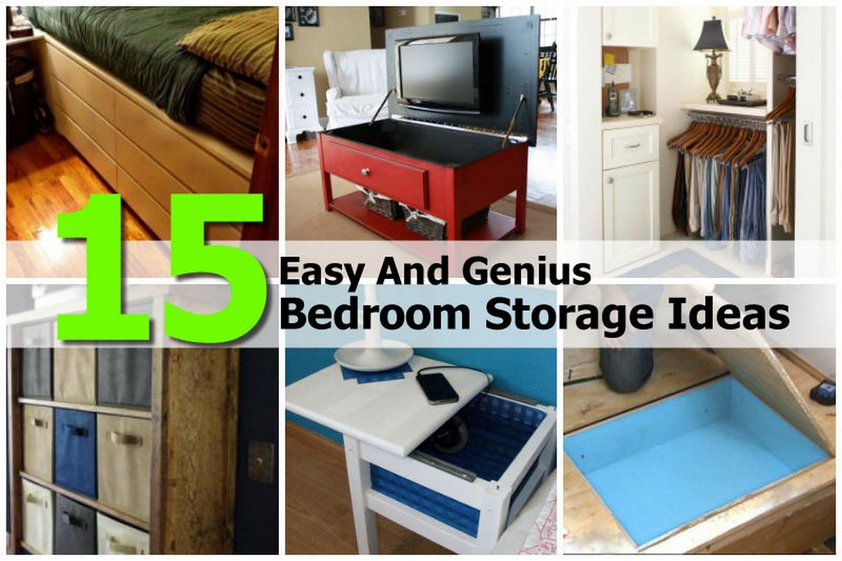 15 Genius Bedroom Storage Ideas Diy Bedroom Storage Bedroom