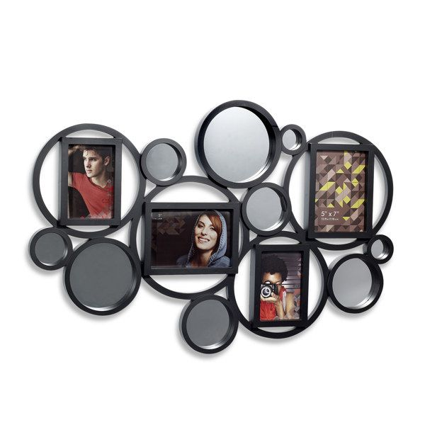 Bubble Four-Opening Collage with Mirror Accents - Bed Bath & Beyond