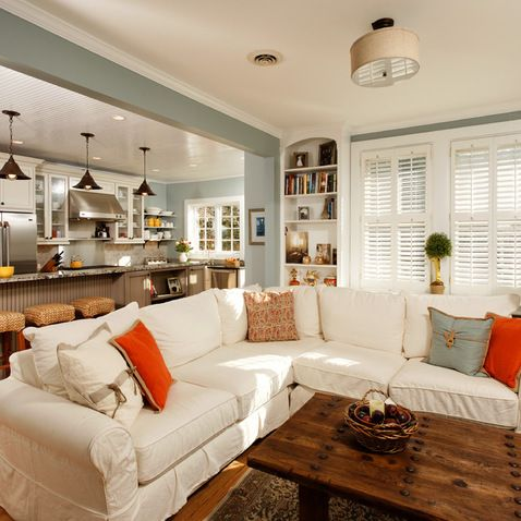 Browse Interior Design Ideas For An Amazing Full Color Living Room With A Wid Living Dining Room Open Kitchen And Living Room Open Concept Kitchen Living Room