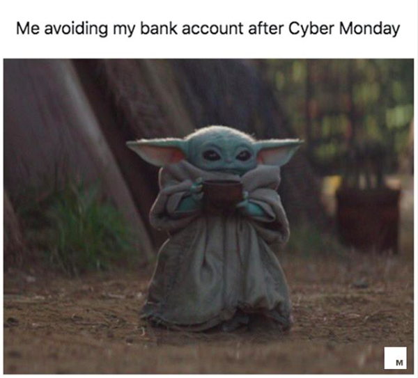 The New Baby Yoda Meme Will Make You Want To Give Thanks All Over Again Yoda Meme Yoda Funny Funny Memes