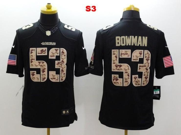 Men 53 NaVorro Bowman Jersey Football San Francisco 49ers Jersey ... e38034fe9
