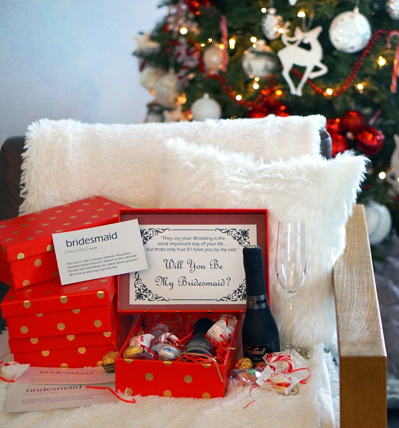 Diy bridesmaid proposal box with definition card ideas