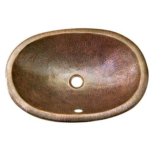 Barclay Products Oval Antique Copper Undermount Bathroom Sink 6842