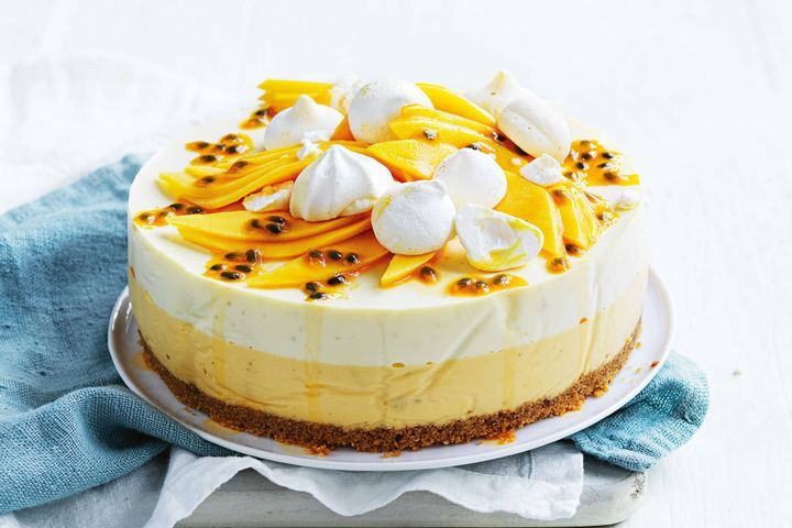 Mango And Passionfruit Cheesecake Recipe In 2020 Passionfruit Cheesecake Cheesecake Recipes Cheesecake