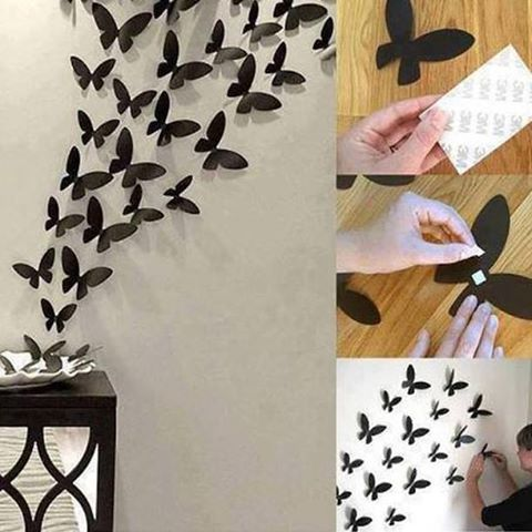 simple diy tip to add the beauty of black butterflies your wall decor step take chart paper and mane numerous butterfly cut outs also rh pinterest