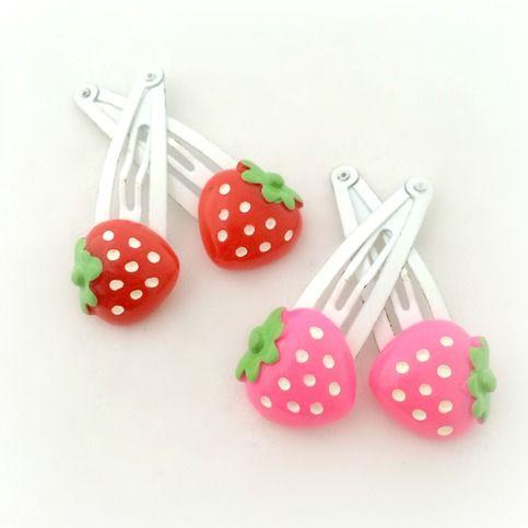 Cute Strawberry Hair Clips Kawaii Hair Accessories Kawaii Hair Accessories Kawaii Hairstyles Kawaii Hair Clips