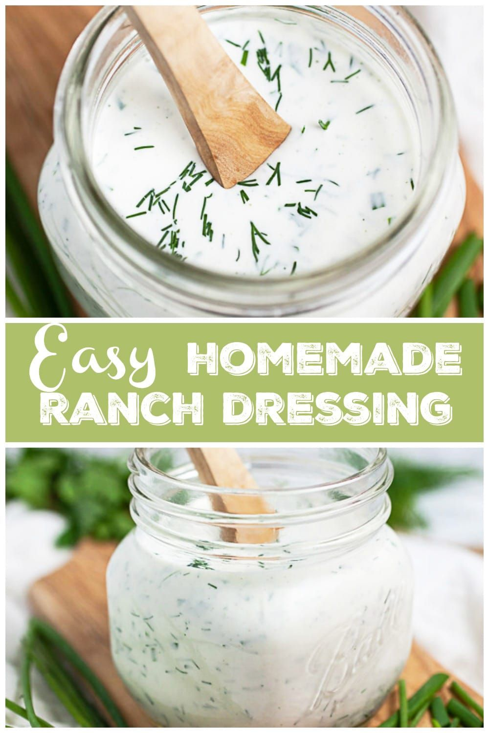 This Easy Homemade Ranch Dressing Recipe Is Ready In 10 Minutes And Is Restaurant Quality Homemade Ranch Ranch Dressing Recipe Ranch Dressing Recipe Homemade