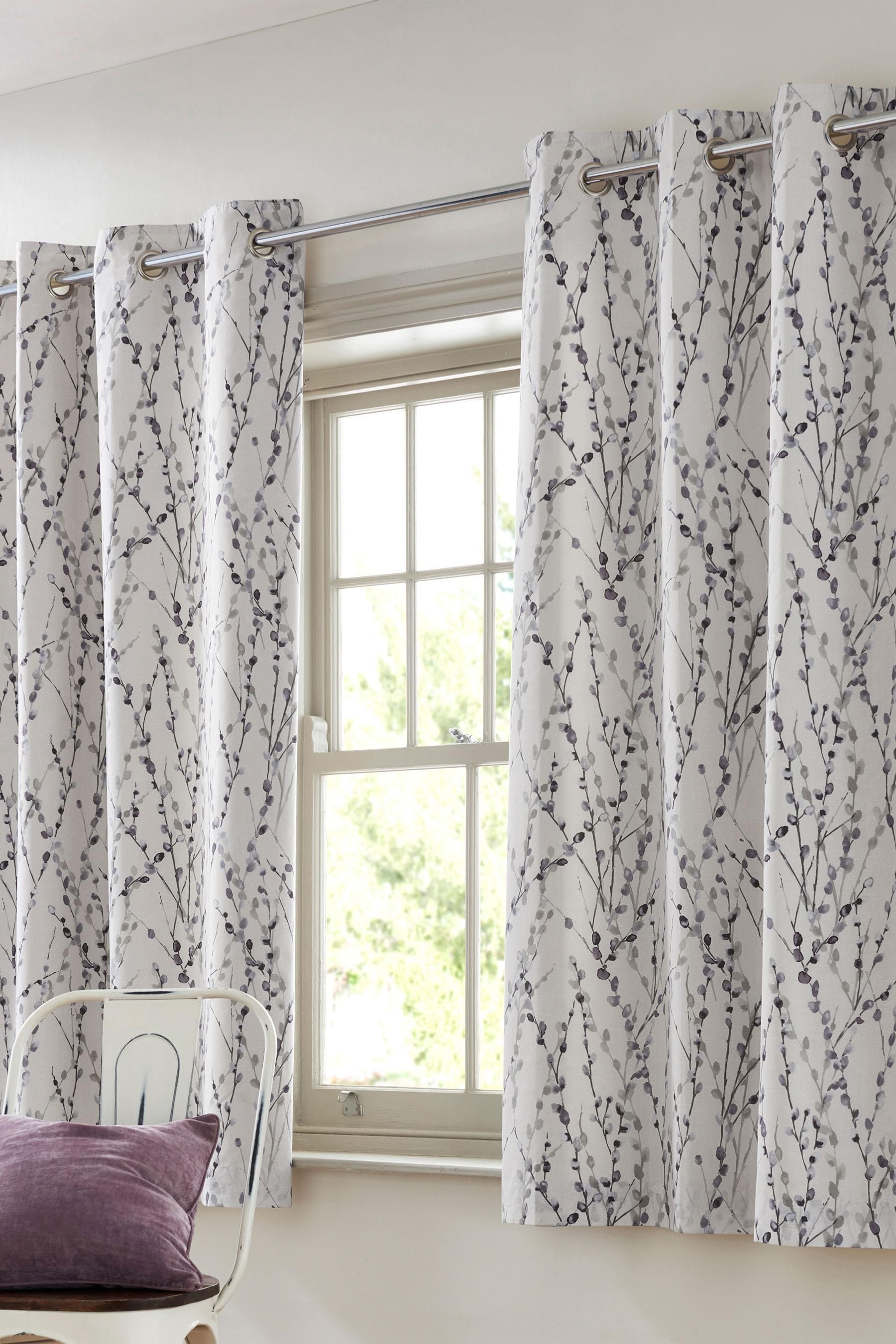 Willow Blackout Lined Eyelet Curtains From The Next Uk Online