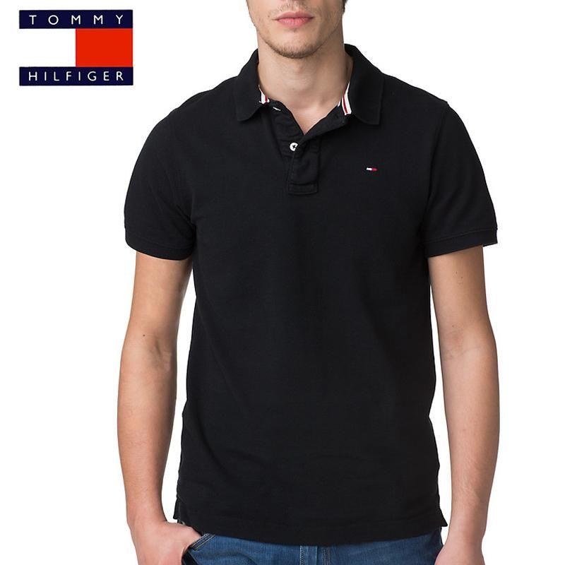 polo Tommy Hilfiger Pilot noir | Chemises