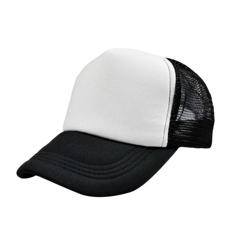 6b97f48e10f9a Men Adjustable Baseball Cap Mesh Plain Color Cap Trucker Hat Blank Curved  Hat