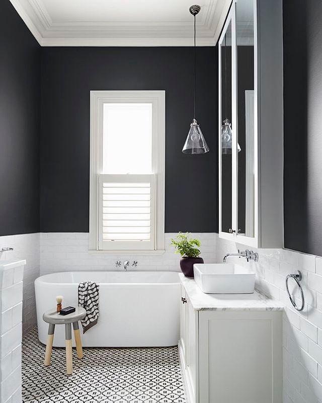 Salle de bain gris et blanc   Bathroom   Pinterest   Bath ...