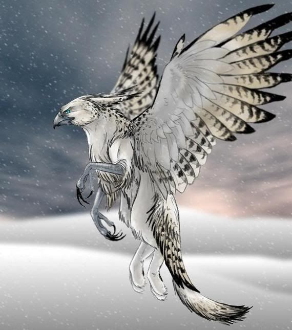 Snow Griffin Mythical Creatures Art Fantasy Creatures Mythical Animal