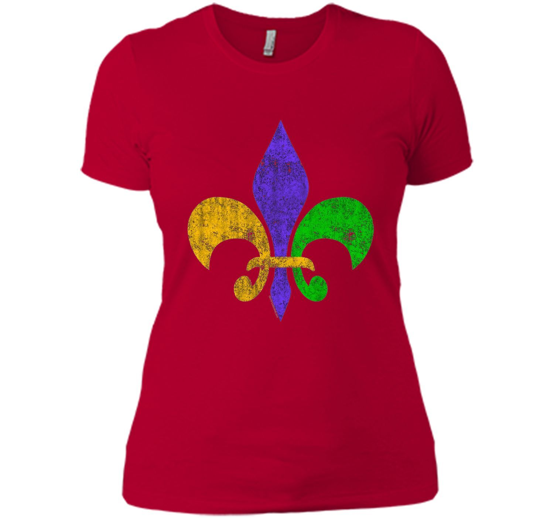 Men's Vintage Fleur-de-Lis Mardis Gras T-Shirt