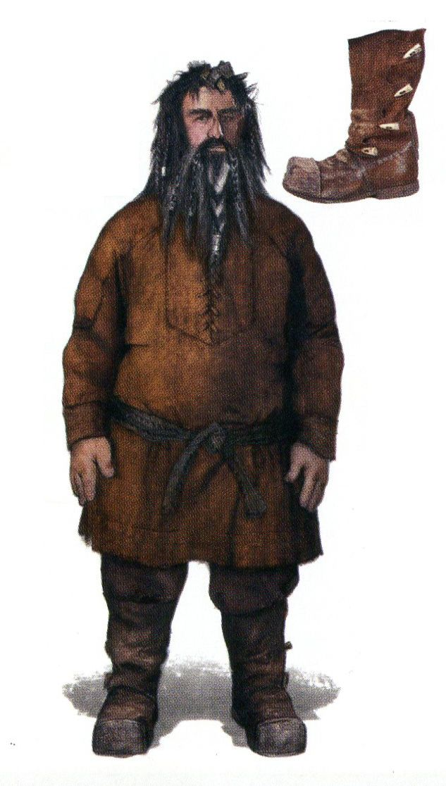 "Conceptual art of Bifur in under tunic from ""The Hobbit: An Unexpected Journey"" (2012)."