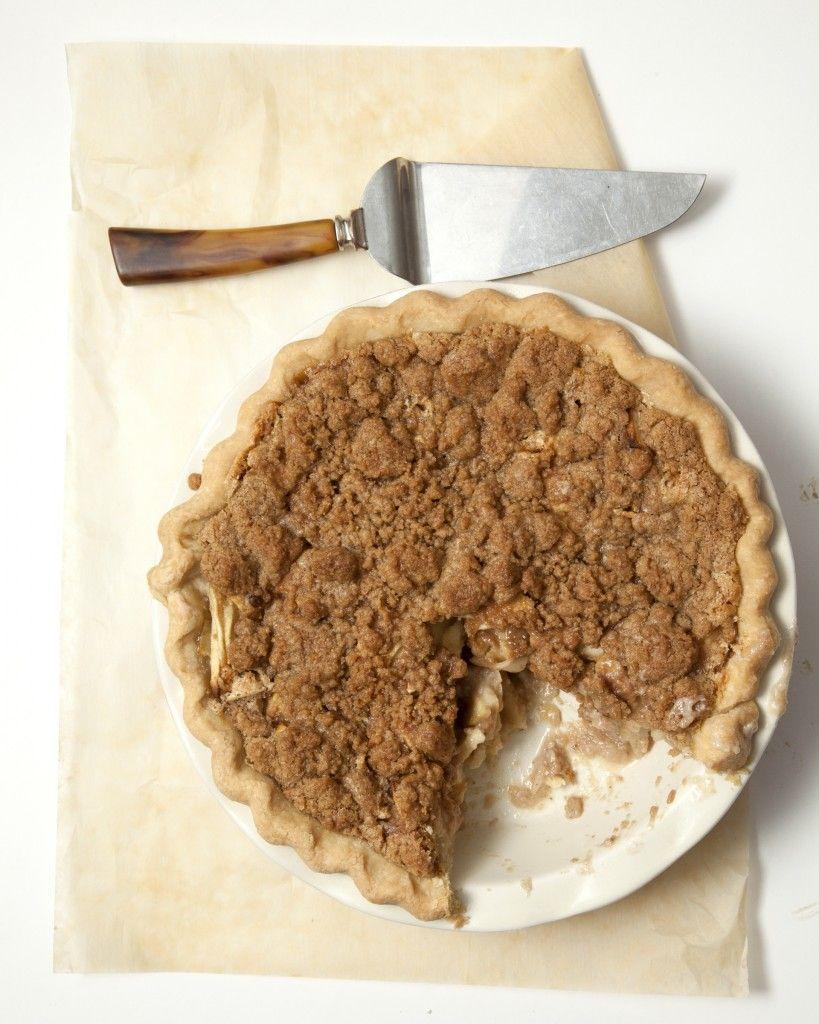 The Best Streusel Apple Pie Ever Subbed Condensed Milk For Heavy Cream Desserts Apple Pie Recipes Dessert Recipes