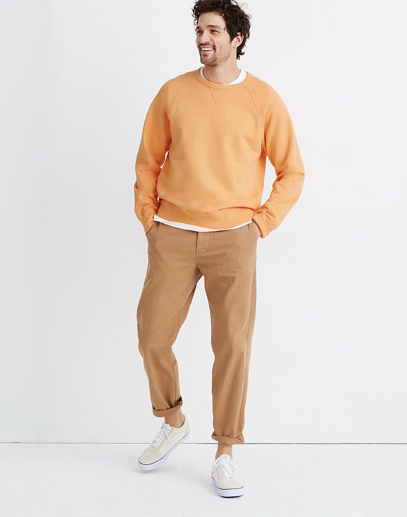 Men S Garment Dyed Crewneck Sweatshirt In 2021 Crew Neck Sweatshirt Garment Dye Sweatshirts [ 1054 x 830 Pixel ]