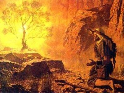 Burning Bush Art Moses and the Burning ...