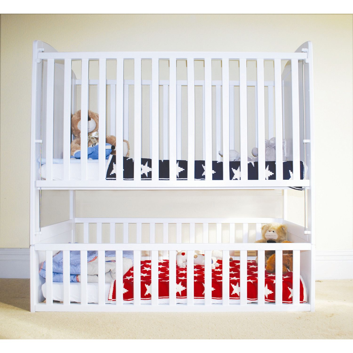 Best Wrigglebox Bunkcot In White Toddler Bunk Beds Bunk Bed 400 x 300