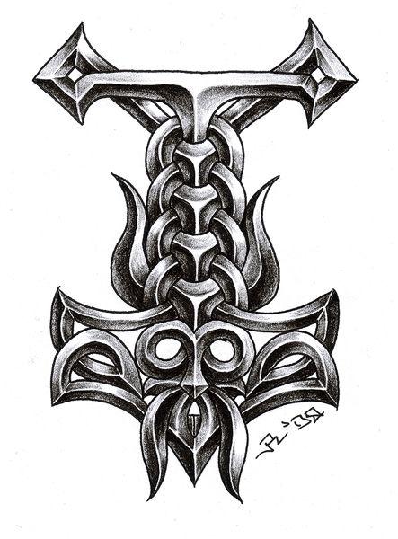 deviantART: More Like Thors Hammer Tattoo by ~sobie182  For my inner viking