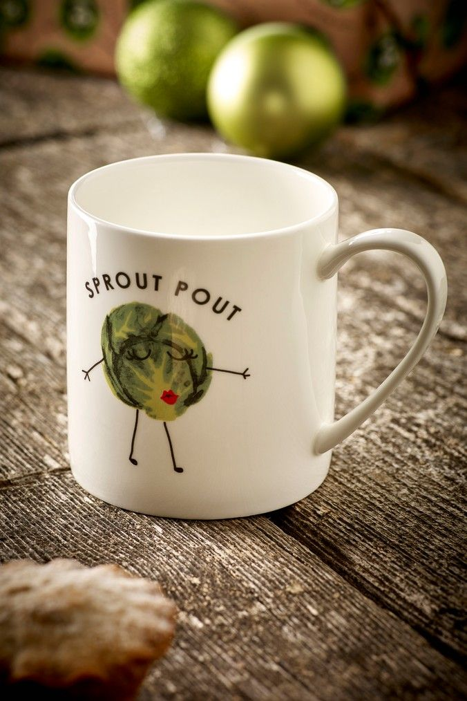Next Sprout Pout Mug Green Christmas Tableware Christmas Dinnerware Mugs