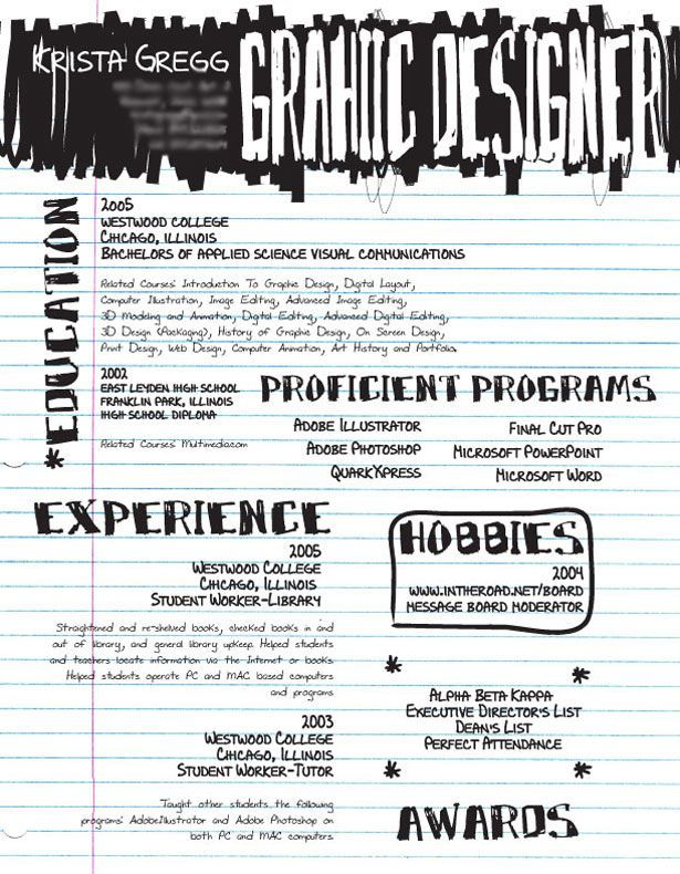 Artistic And Creative Rsums  Graphic Design Resume Design