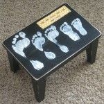 Family Foot Print Stool (Mother's Day Gift Idea?)