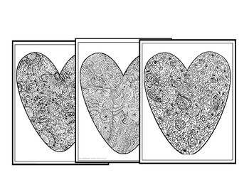 Big Hearts Coloring Pages