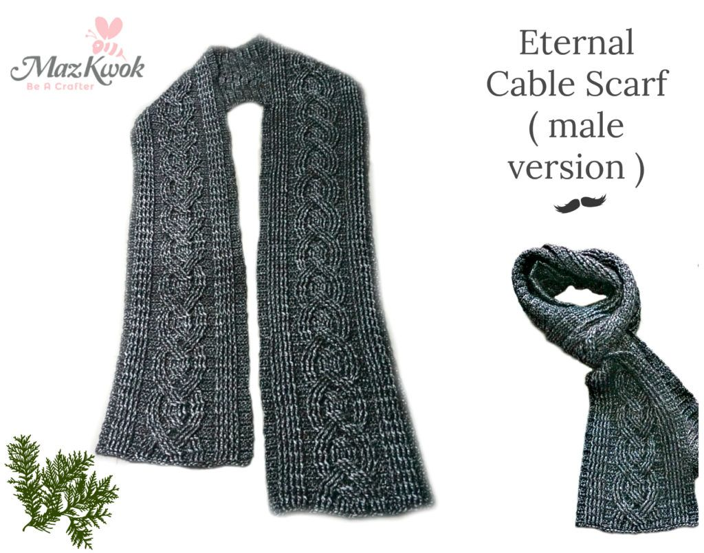 Learn To Crochet Eternal Cable Scarf Male Version In This Free Crochet Pattern Made By Worsted Weight Yarn Free Wri In 2020 Crochet Cable Cable Scarf Crochet Scarves