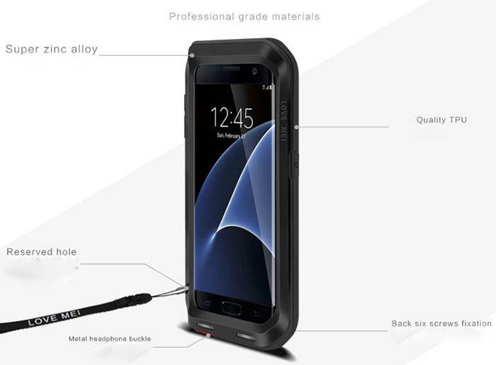 info for b77c3 dbe86 Love Mei Powerful Samsung Galaxy S7 Edge Protective Case | Love Mei ...