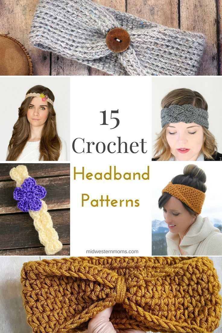 15 Free Crochet Headband Patterns | crochet, punto y telar | Pinterest