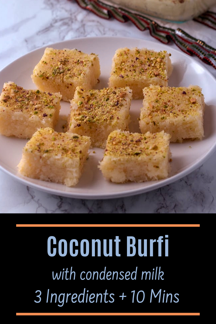Coconut Burfi With Condensed Milk Spice Up The Curry Recipe In 2020 Recipes Burfi Recipe Coconut Barfi Recipe