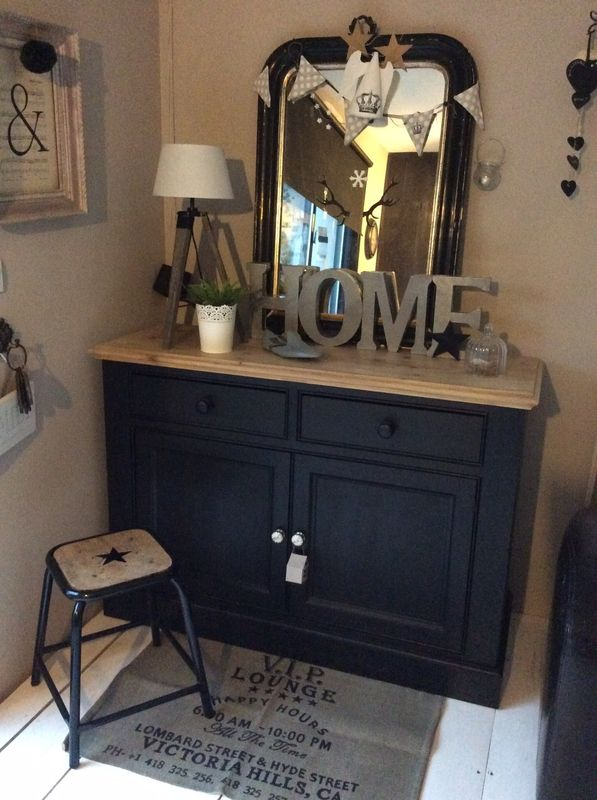 buffet relook avant apr s d coration salon diy http. Black Bedroom Furniture Sets. Home Design Ideas