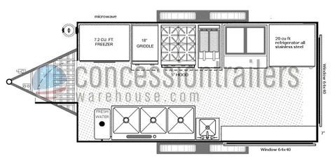 food truck floor plan 8x16 floor plans mfv pinterest food lowboy trailer food truck floor plan 8x16 floor plans