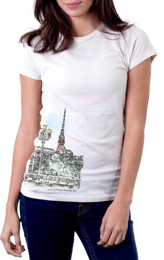 Vectorize A Landscape Photo Into A Watercolor Painting Shirt