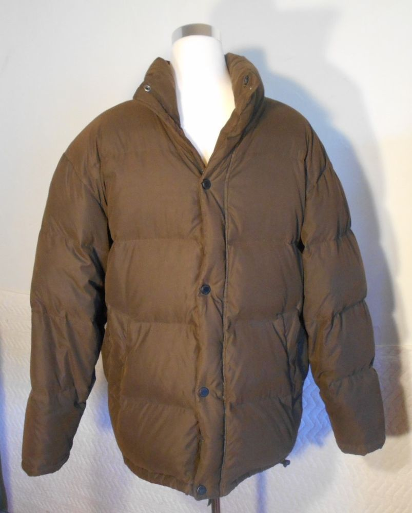 a7e63db720559 Liz Claiborne Crazy Horse Men s Down Jacket Coat Size Large Puffer Brown  5410  LizClaiborneCrazyHorse  Puffer