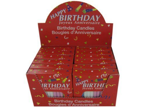 36 Piece Birthday Candles 12 Pack Per Display Case