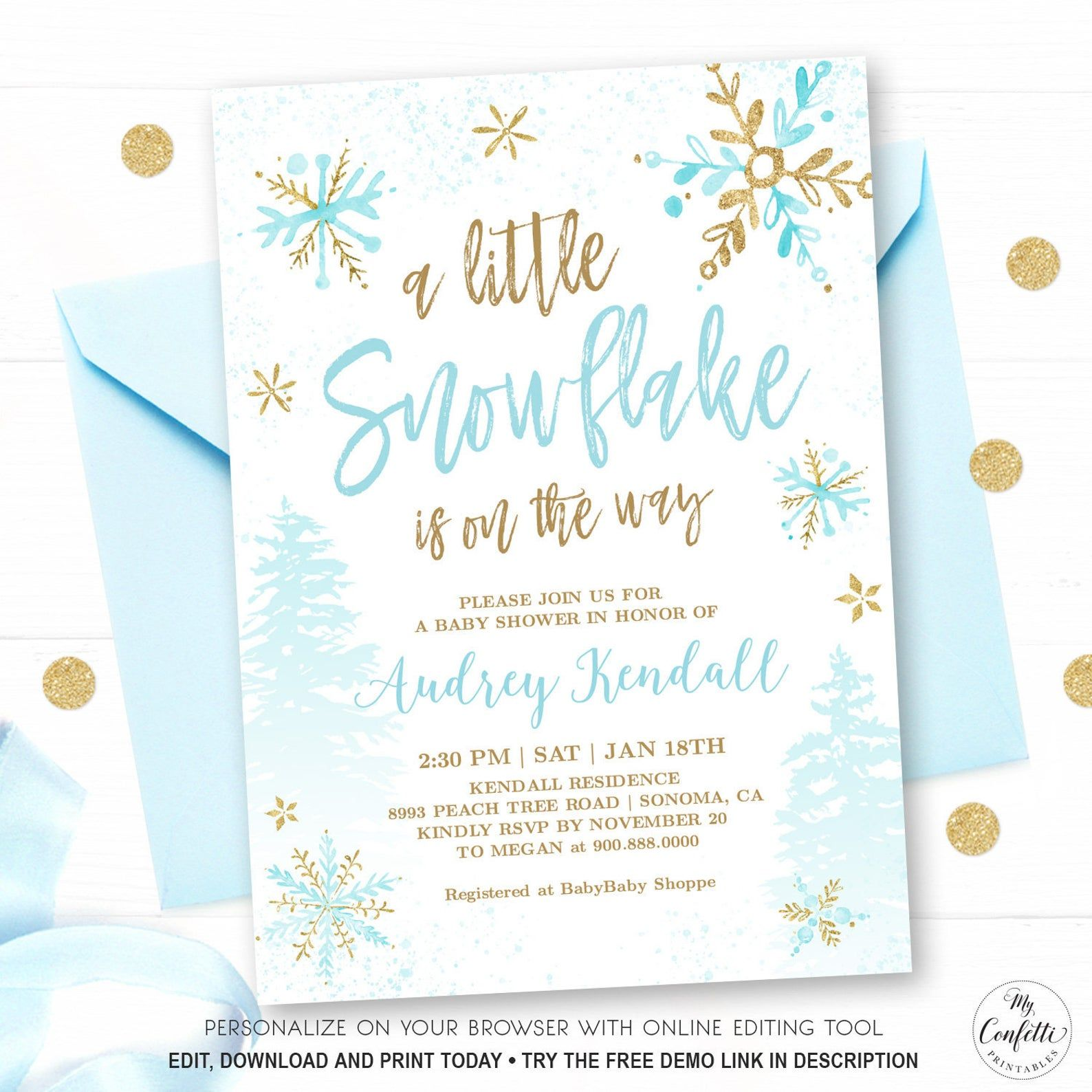 A Little Snowflake Is On The Way Winter Baby Shower Etsy Baby Shower Invitations For Boys Winter Baby Shower Invitations Winter Baby Shower Invitations Boy