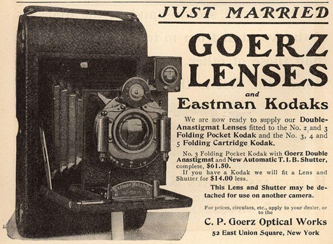 KODAK: Just Married Goerz Lenses and Eastman Kodaks (1901)